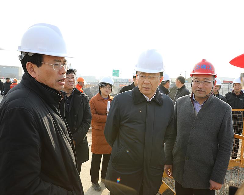 市长夏心旻带队视察公司运河南北路快速化改造工程项目工地